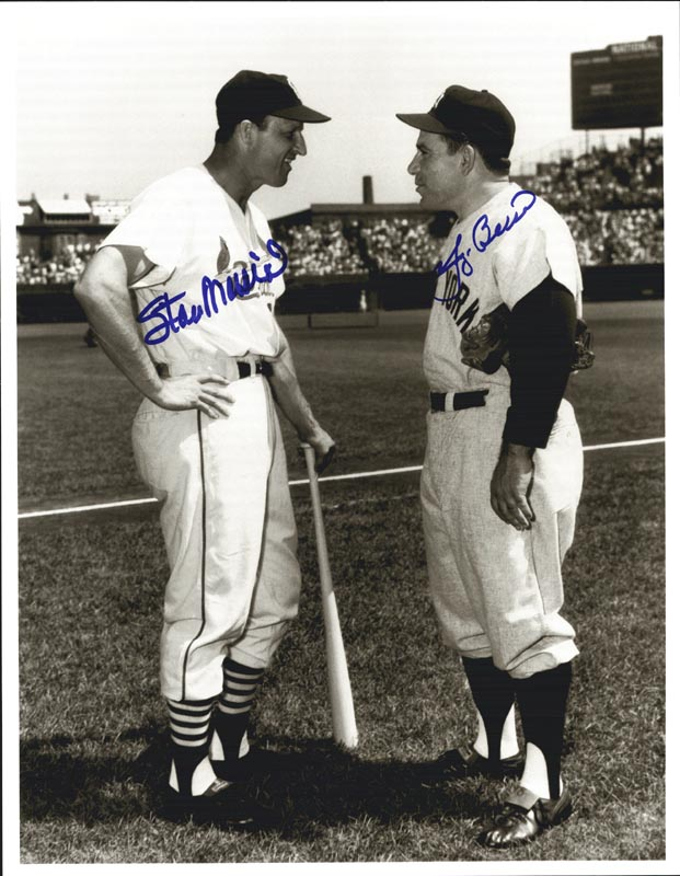 Image 1 for Yogi Berra - Autographed Signed Photograph co-signed by: Stan 'The Man' Musial - HFSID 268423
