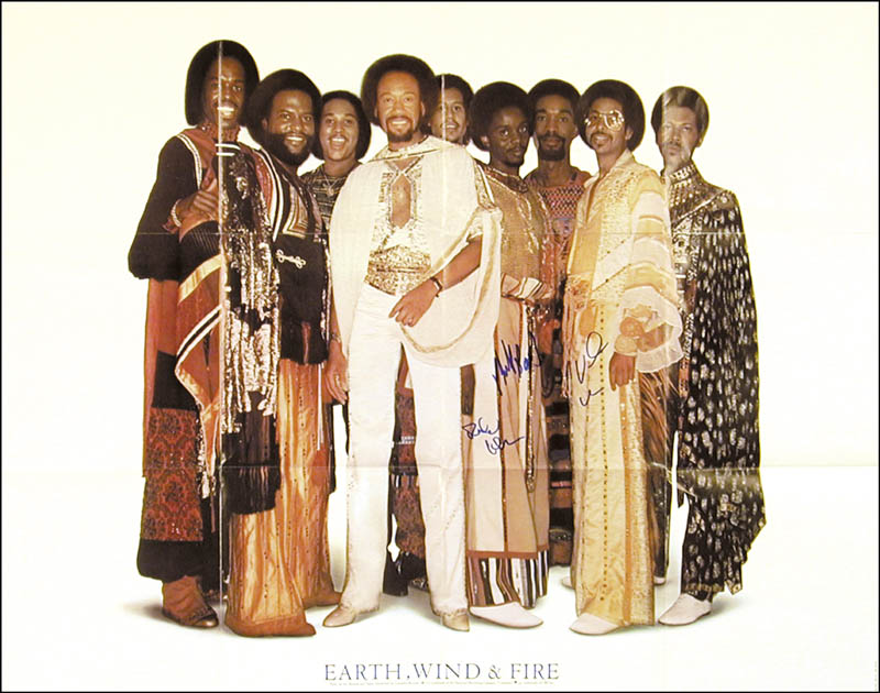 Image 3 for Earth, Wind And Fire - Autographed Signed Poster with co-signers - HFSID 268450