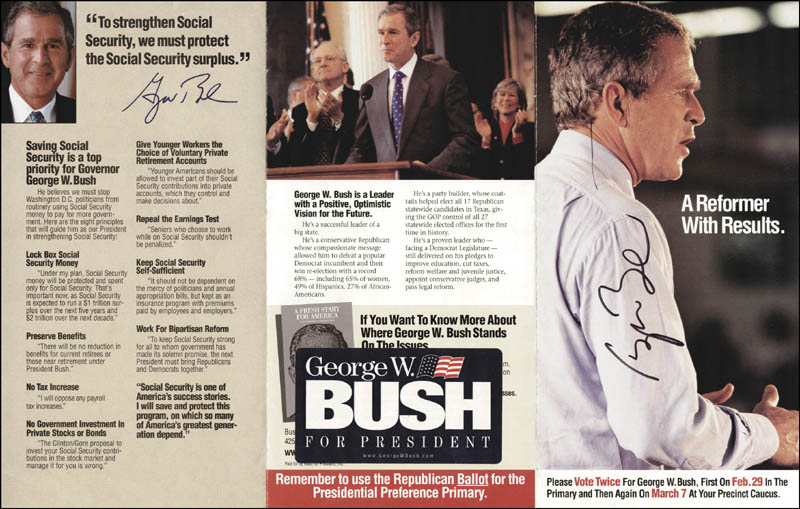 Image 1 for President George W. Bush - Advertisement Signed - HFSID 268584