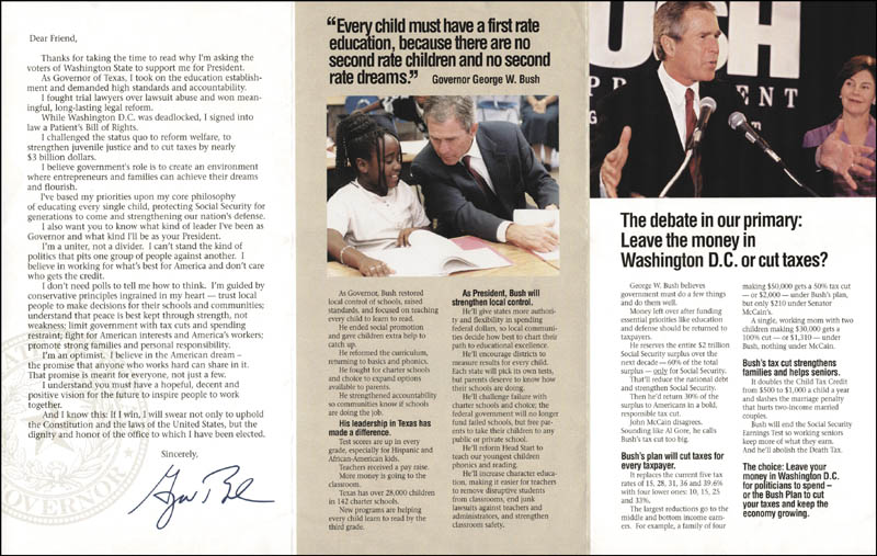 Image 3 for President George W. Bush - Advertisement Signed - HFSID 268584