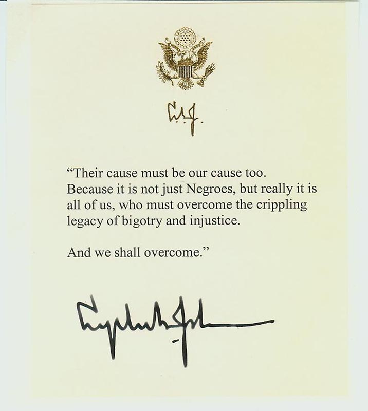 Image 1 for President Lyndon B. Johnson - Quotation Signed - HFSID 268701