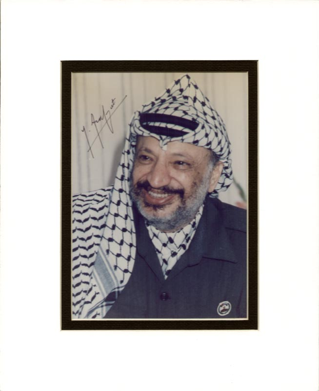 Image 1 for President Yasser Arafat (Palestinian National Authority) - Autographed Signed Photograph - HFSID 268711