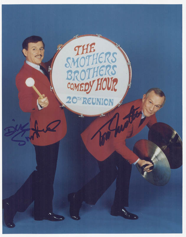 Image 1 for The Smothers Brothers - Autographed Signed Photograph co-signed by: Smothers Brothers (Dick Smothers), Smothers Brothers (Tom Smothers) - HFSID 268865