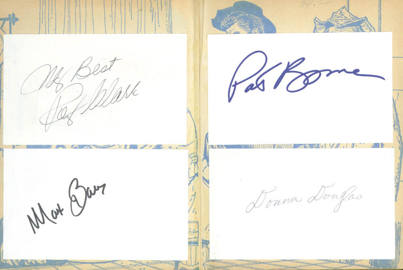 Image 3 for Beverly Hillbillies TV Cast - Autograph Circa 1963 with co-signers - HFSID 269064