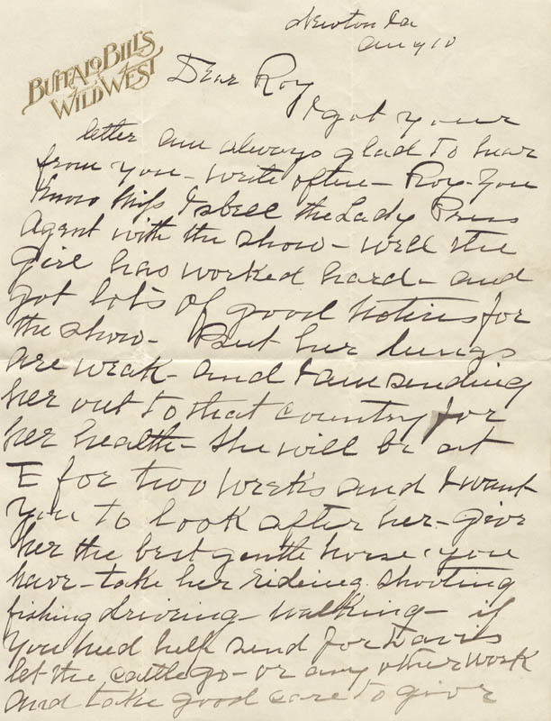 Image 3 for William F. 'Buffalo Bill' Cody - Autograph Letter Signed 08/10 - HFSID 269330