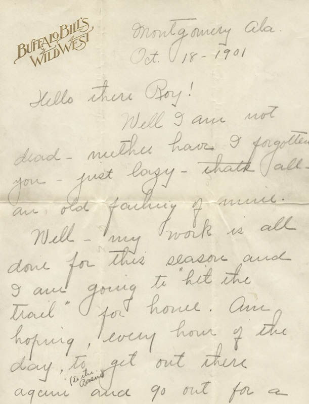 Image 4 for William F. 'Buffalo Bill' Cody - Autograph Letter Signed 08/10 - HFSID 269330