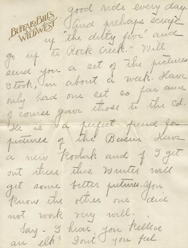 Image 5 for William F. 'Buffalo Bill' Cody - Autograph Letter Signed 08/10 - HFSID 269330