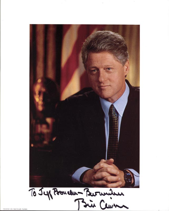 Image 1 for President William J. 'Bill' Clinton - Autographed Inscribed Photograph - HFSID 269341