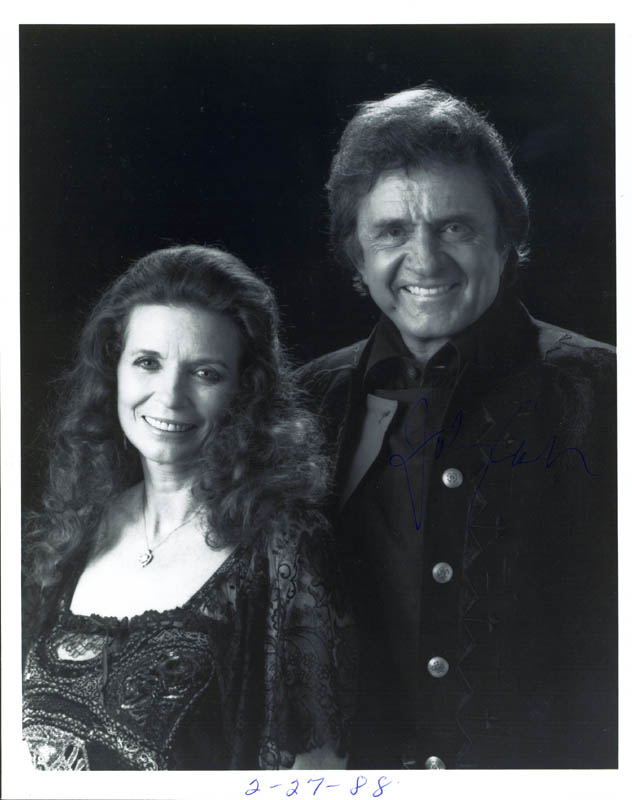 Image 1 for Johnny Cash - Autographed Signed Photograph Circa 1988 - HFSID 269363