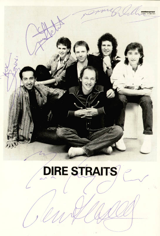 Image 1 for Dire Straits - Autographed Signed Photograph with co-signers - HFSID 269404
