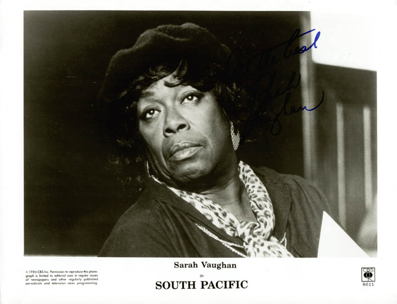 Image 1 for Sarah Vaughan - Autographed Signed Photograph - HFSID 269427
