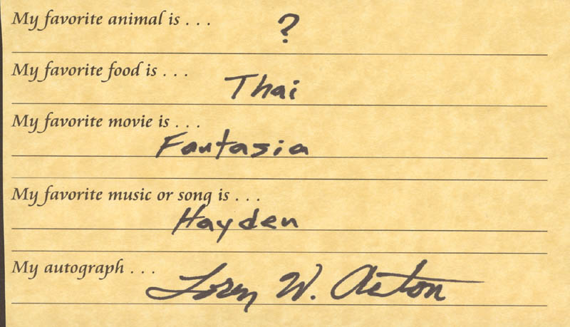 Image 1 for Loren Acton - Questionnaire Signed - HFSID 269507