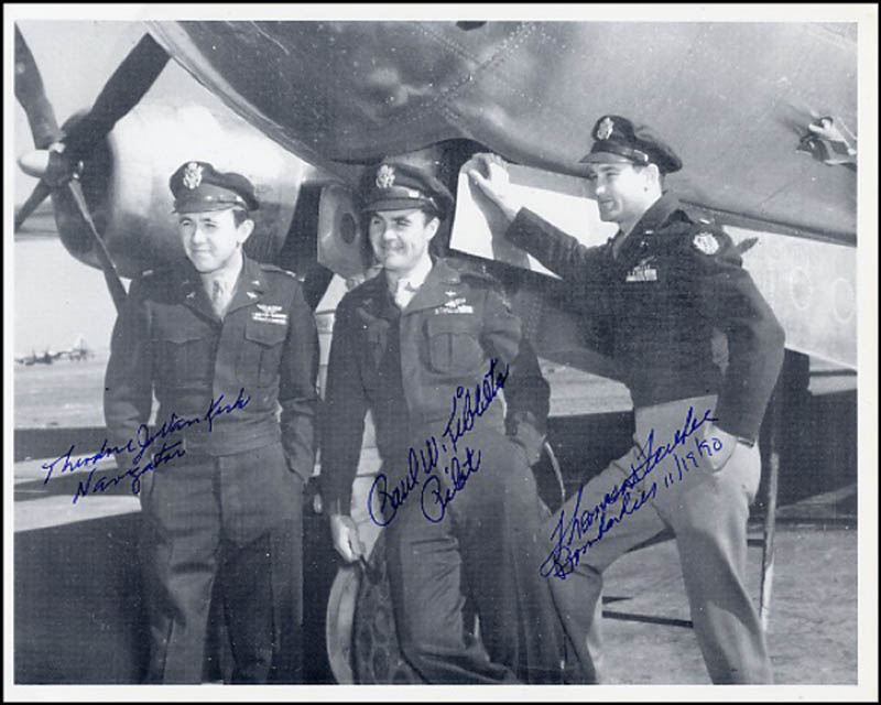 Image 1 for Enola Gay Crew - Autographed Signed Photograph 11/19/1990 with co-signers - HFSID 269558