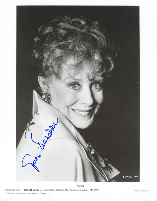 Image 1 for Gwen Verdon - Autographed Signed Photograph - HFSID 269607