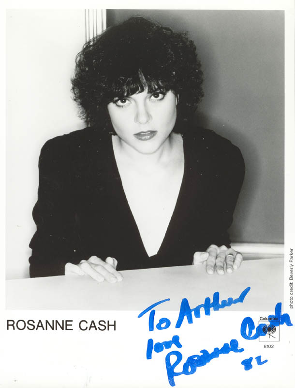 Image 1 for Rosanne Cash - Inscribed Printed Photograph Signed In Ink 1982 - HFSID 269700