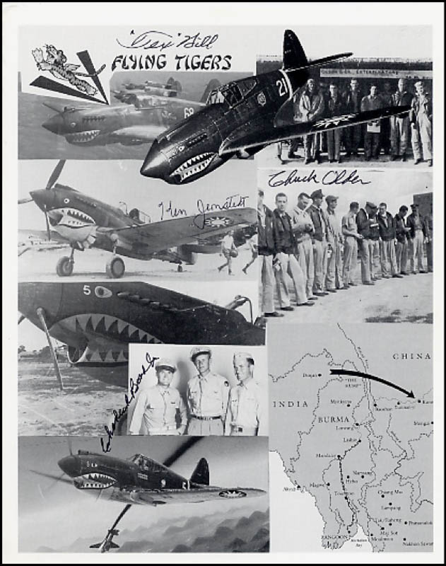 Image 1 for Flying Tigers - Autographed Signed Photograph with co-signers - HFSID 269873