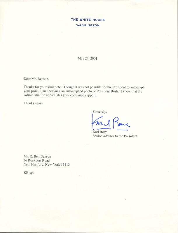 Image 1 for Karl Rove - Typed Letter Signed - HFSID 270009