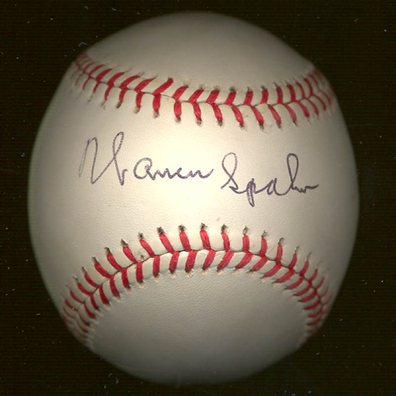 Image 1 for Warren Spahn - Autographed Signed Baseball - HFSID 270028