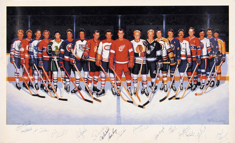Image 1 for 500 Goal Scorers - Autographed Signed Poster with co-signers - HFSID 270063