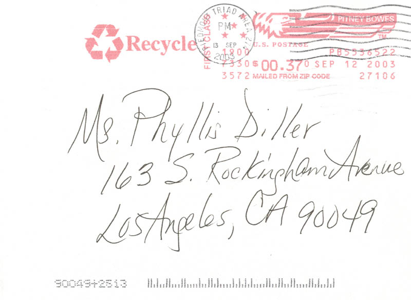 Image 3 for Maya Angelou - Autograph Letter Signed 04/17/2003 - HFSID 270138