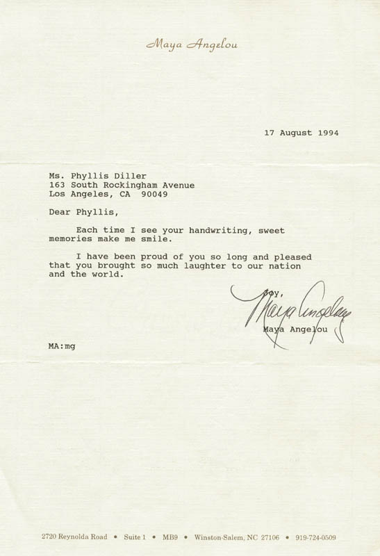 Image 1 for Maya Angelou - Typed Letter Signed 08/17/1994 - HFSID 270139