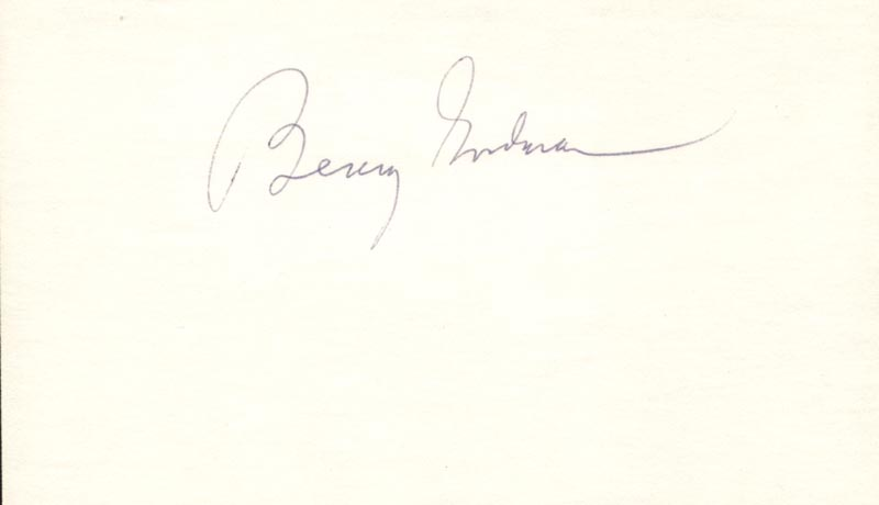 Image 1 for Benny Goodman - Autograph - HFSID 27023