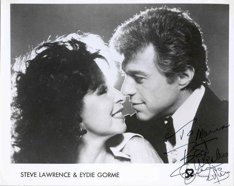 Image 1 for Steve Lawrence - Inscribed Printed Photograph Signed In Ink co-signed by: Eydie Gorme - HFSID 27025