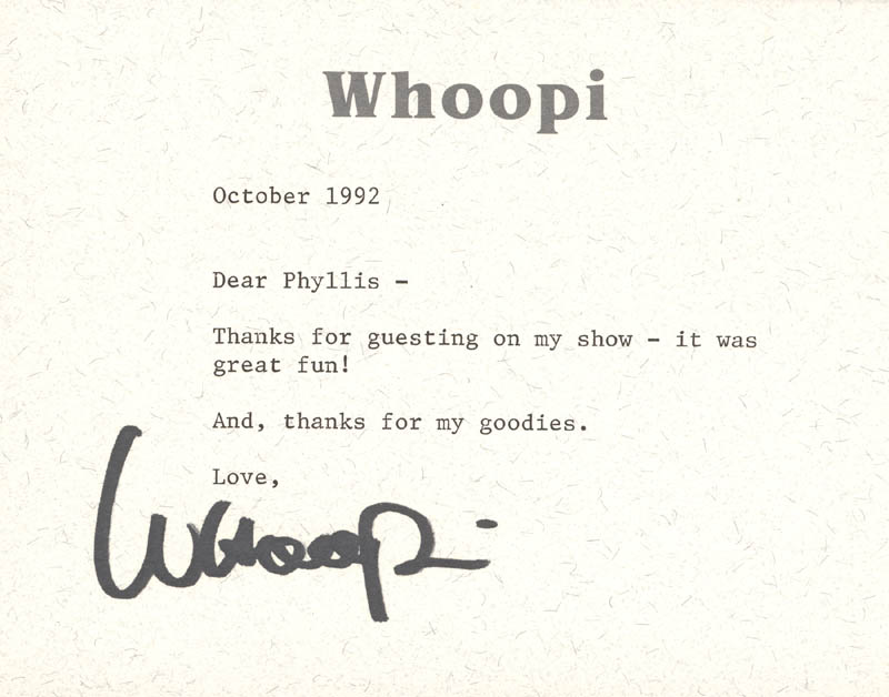 Image 1 for Whoopi Goldberg - Typed Letter Signed 10/1992 - HFSID 270358