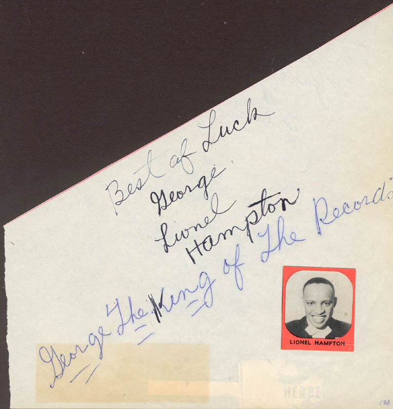 Image 1 for Lionel Hampton - Autograph Note Signed - HFSID 27036
