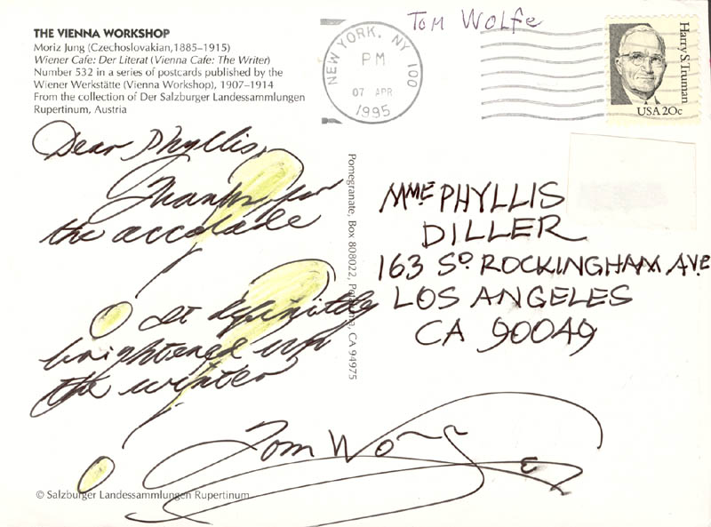 Image 1 for Tom Wolfe - Autograph Letter Signed Circa 1995 - HFSID 270433