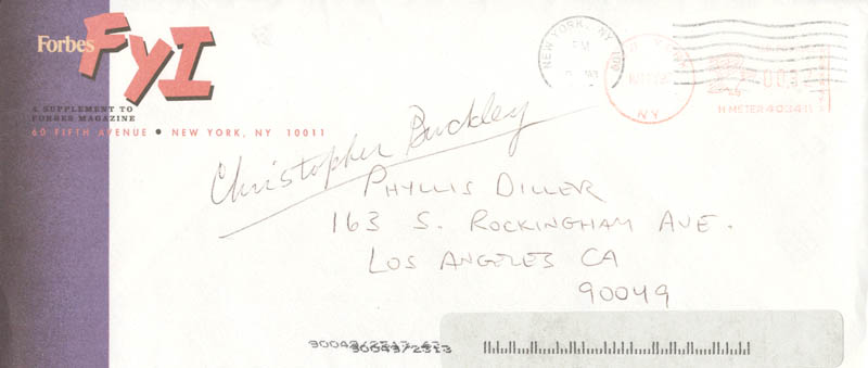 Image 3 for Christopher Buckley - Typed Letter Signed 03/13/1997 - HFSID 270463