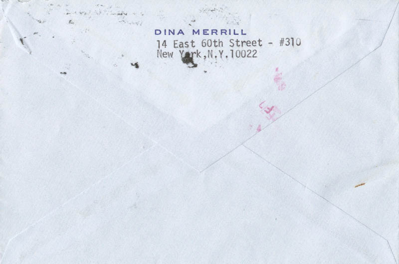 Image 5 for Dina Merrill - Typed Letter Signed 02/06/1980 - HFSID 270478