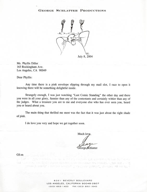 Image 1 for George Schlatter - Typed Letter Signed 07/08/2004 - HFSID 270506