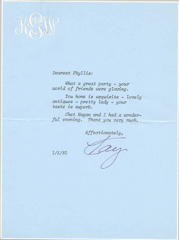 Image 1 for Kay (Mrs. Clark) Gable - Typed Letter Signed 01/05/1981 - HFSID 270510