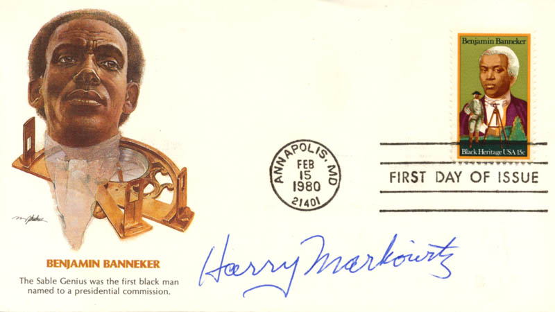 Image 1 for Harry M. Markowitz - First Day Cover Signed - HFSID 270736