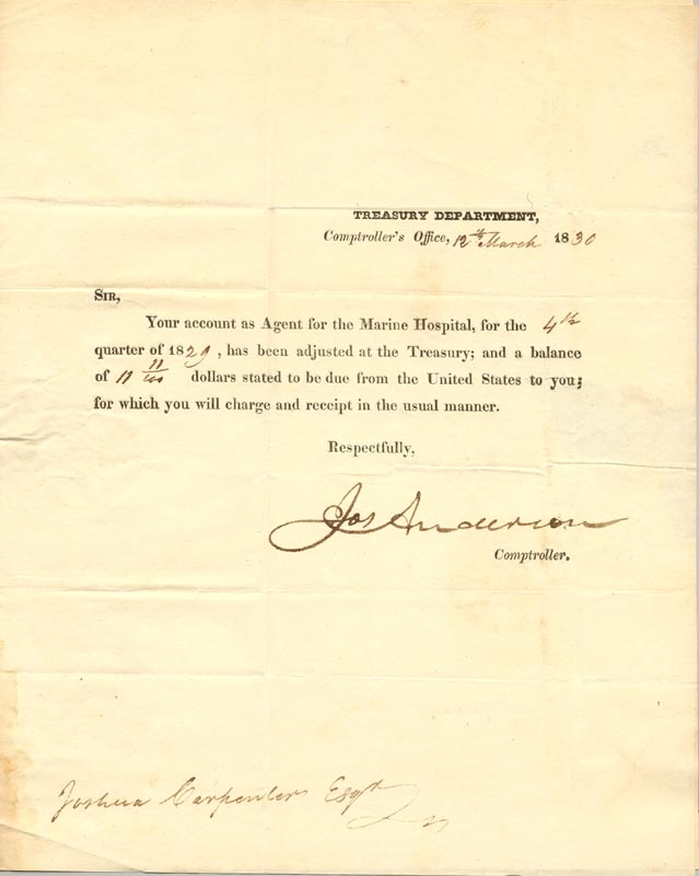 Image 1 for Joseph Anderson - Document Double Signed 03/12/1830 - HFSID 270815