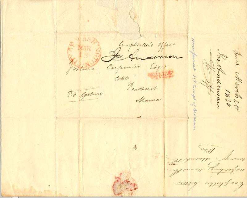 Image 3 for Joseph Anderson - Document Double Signed 03/12/1830 - HFSID 270815