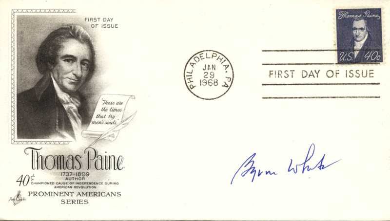 Image 1 for Associate Justice Byron R. White - First Day Cover Signed - HFSID 270819