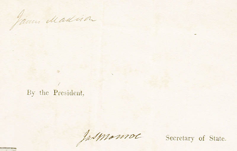Image 3 for President James Madison - Four Language Ships Papers Signed 11/29/1811 co-signed by: President James Monroe - HFSID 270857