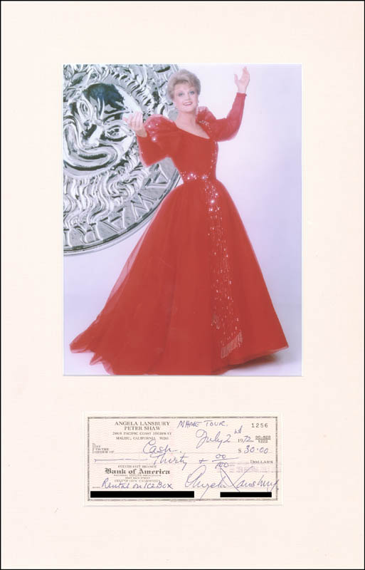 Image 1 for Angela Lansbury - Autographed Signed Check 07/02/1972 - HFSID 270869