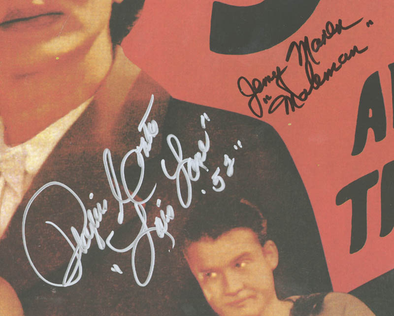 Image 3 for Superman And The Mole Men Movie Cast - Autographed Signed Poster co-signed by: Phyllis Coates, Jerry Maren - HFSID 270936