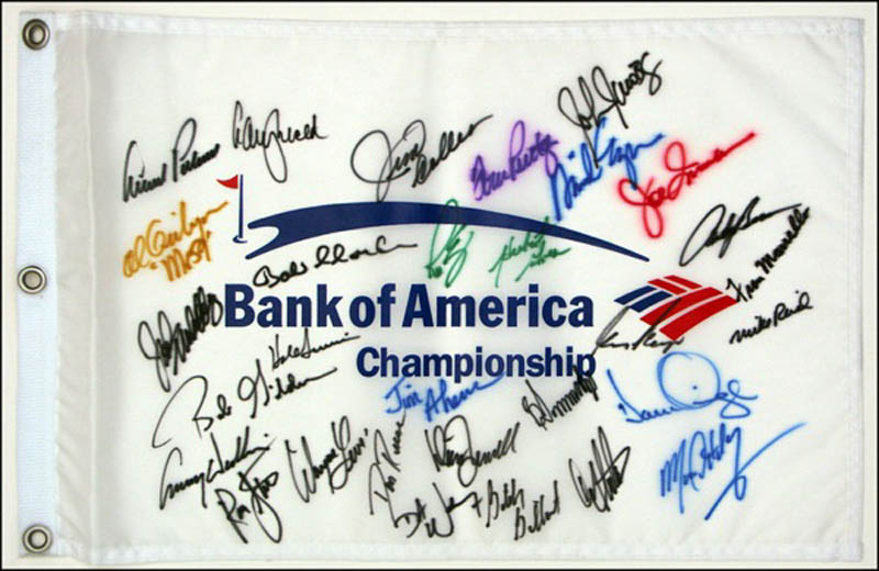 Image 1 for Arnold Palmer - Flag Signed with co-signers - HFSID 271001