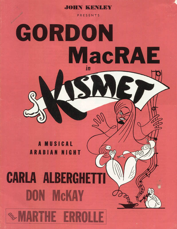 Image 3 for Kismet Theater Cast - Inscribed Program Signed co-signed by: Thomas Barry, Sharon Sutton - HFSID 27104