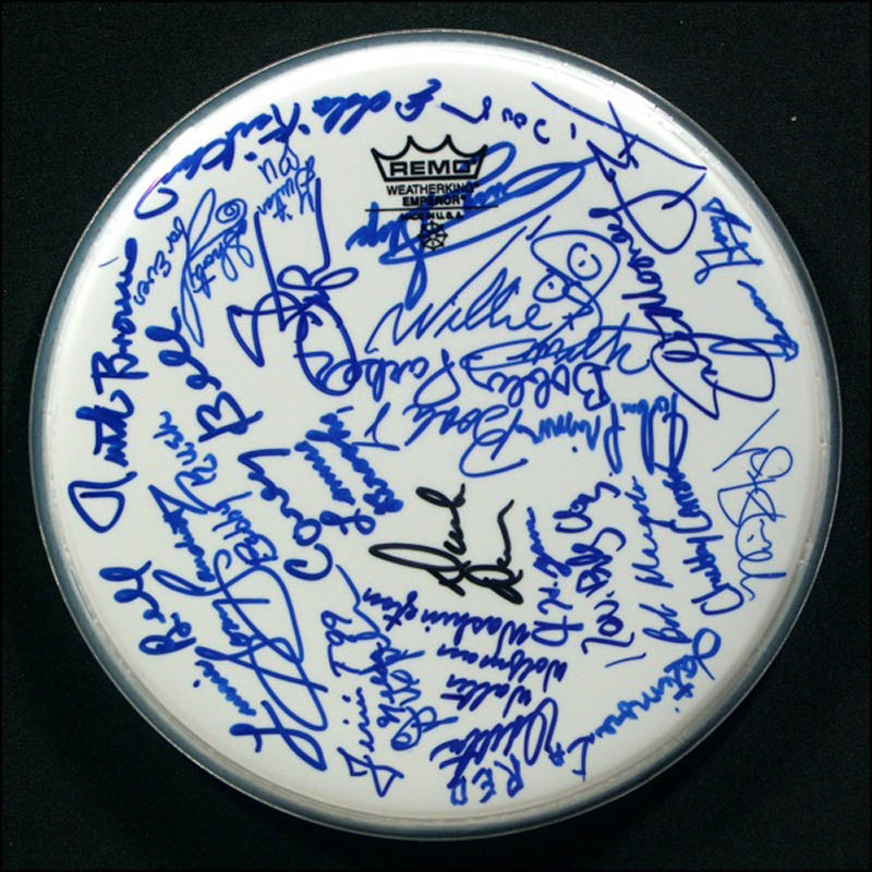 Image 1 for Percy Sledge - Drumhead Signed with co-signers - HFSID 271111