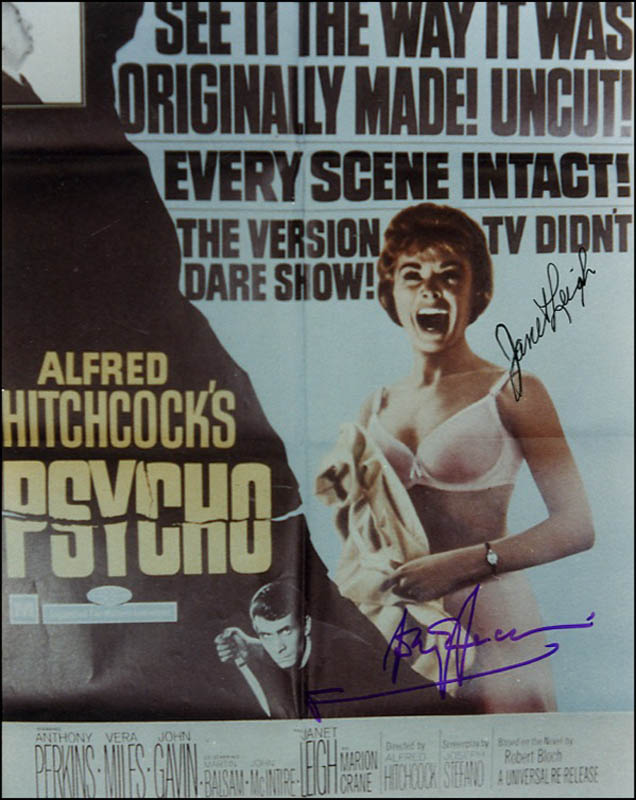 Image 1 for Psycho! Movie Cast - Autographed Signed Photograph co-signed by: Janet Leigh, Anthony Perkins - HFSID 271188