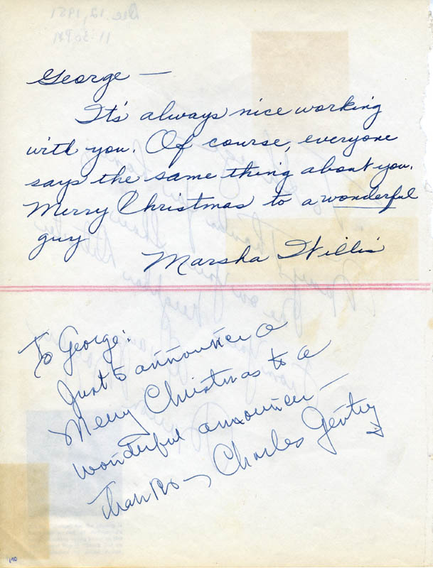Image 3 for Marion Morgan - Autograph Note Signed 12/12/1951 - HFSID 27119