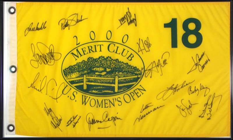 Image 1 for Annika Sorenstam - Flag Signed Circa 2000 with co-signers - HFSID 271224