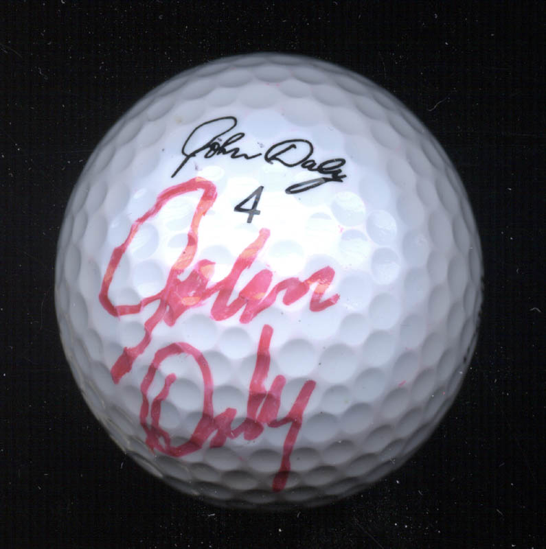Image 1 for John Daly - Golf Ball Signed - HFSID 271227