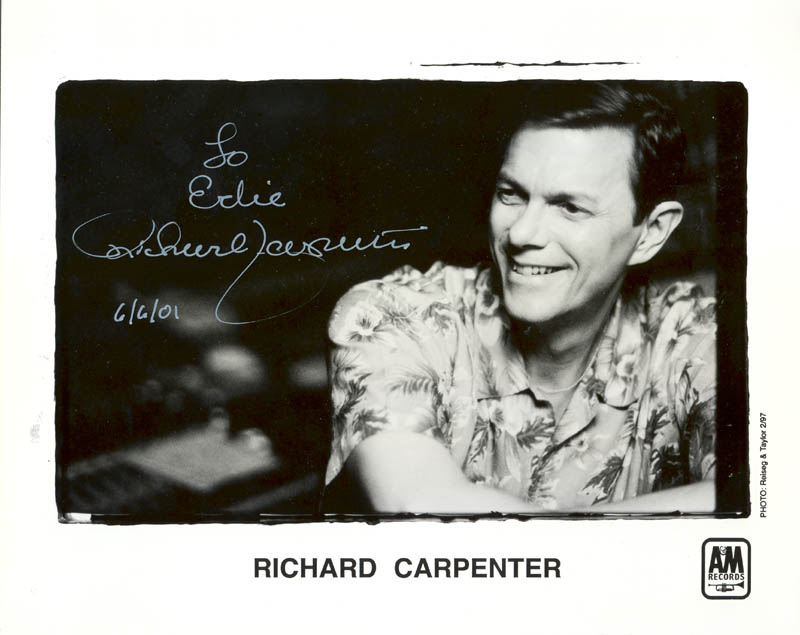 Image 1 for Richard Carpenter - Autographed Inscribed Photograph 06/06/2001 - HFSID 271265