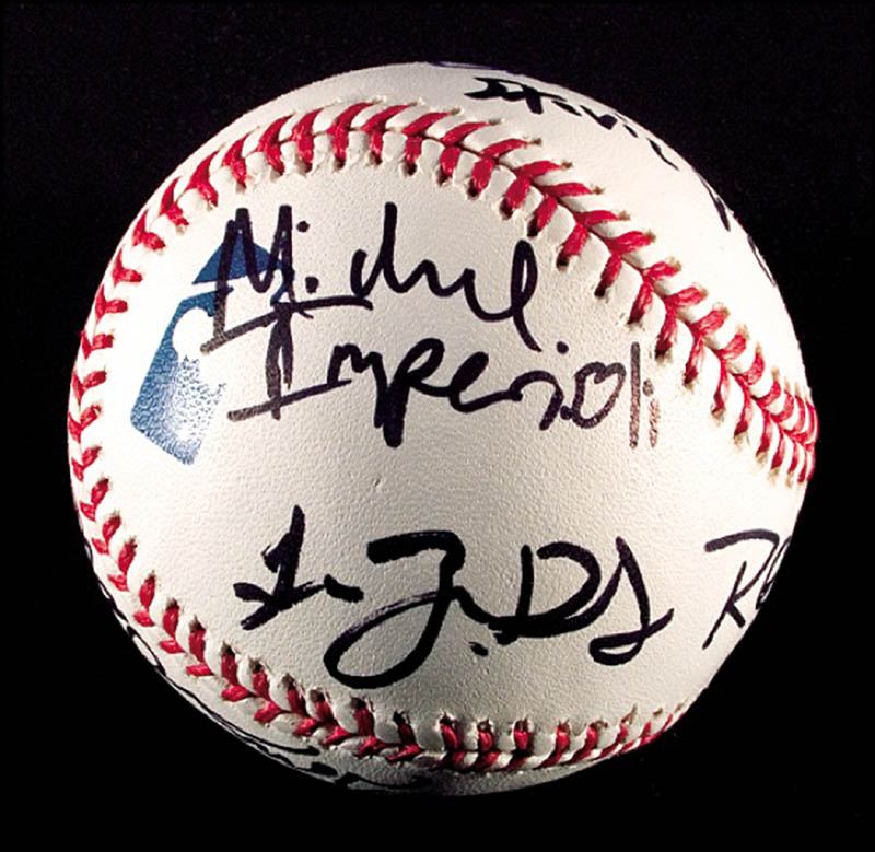 Image 3 for The Sopranos TV Cast - Autographed Signed Baseball with co-signers - HFSID 271281